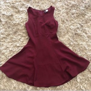 Burgundy H&M dress!